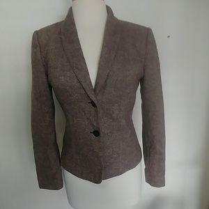Calvin Klein Brown wool blazer with 2 button  4